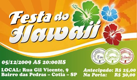 Festa do Hawaii - 05/12/2009 - 20h